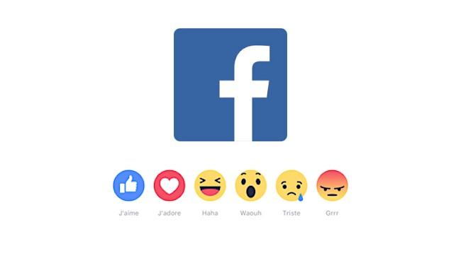 Illusatration Les nouveaux boutons j'aime de Facebook