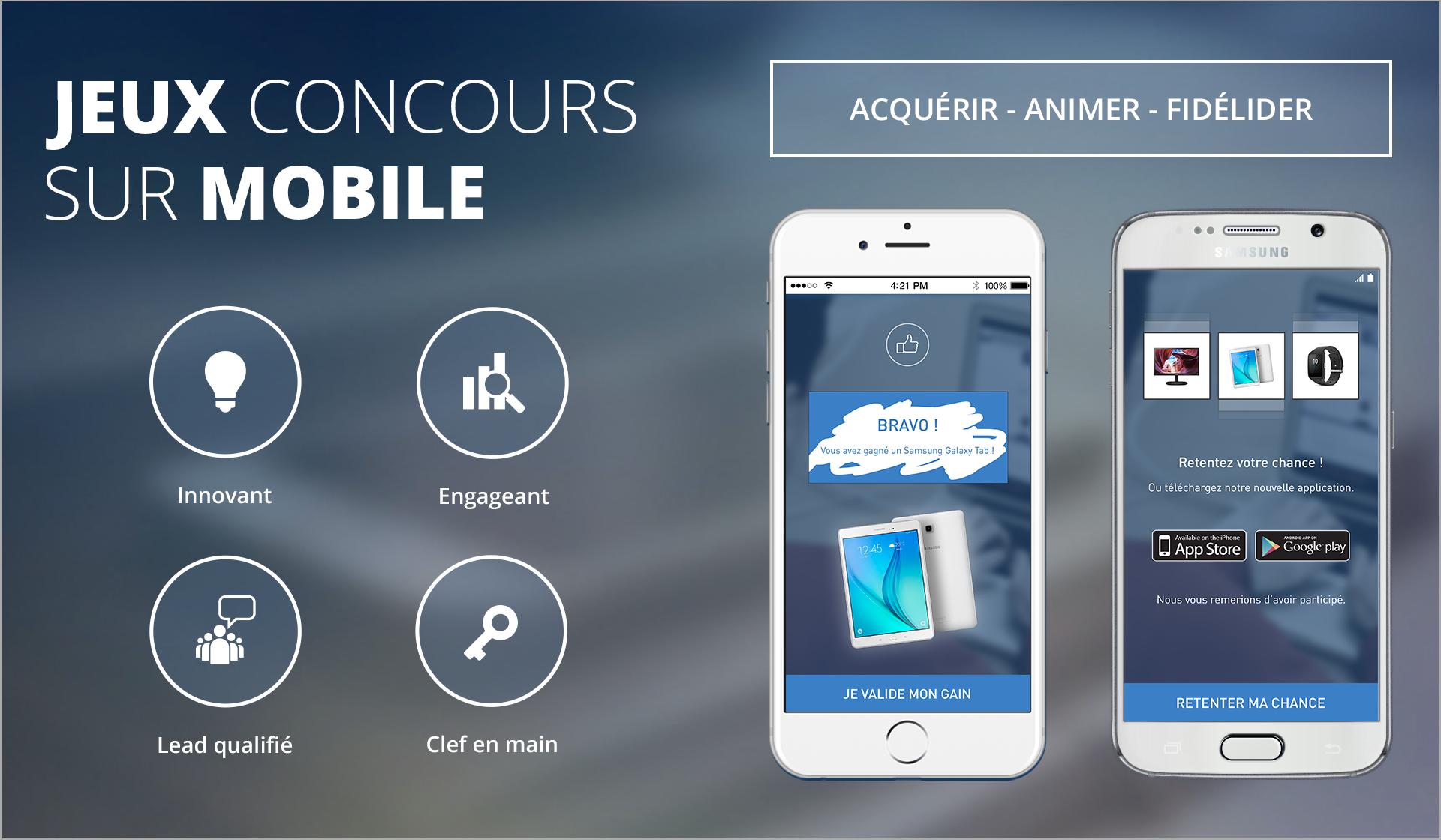 Illusatration Le jeu concours sur mobile : générateur de leads