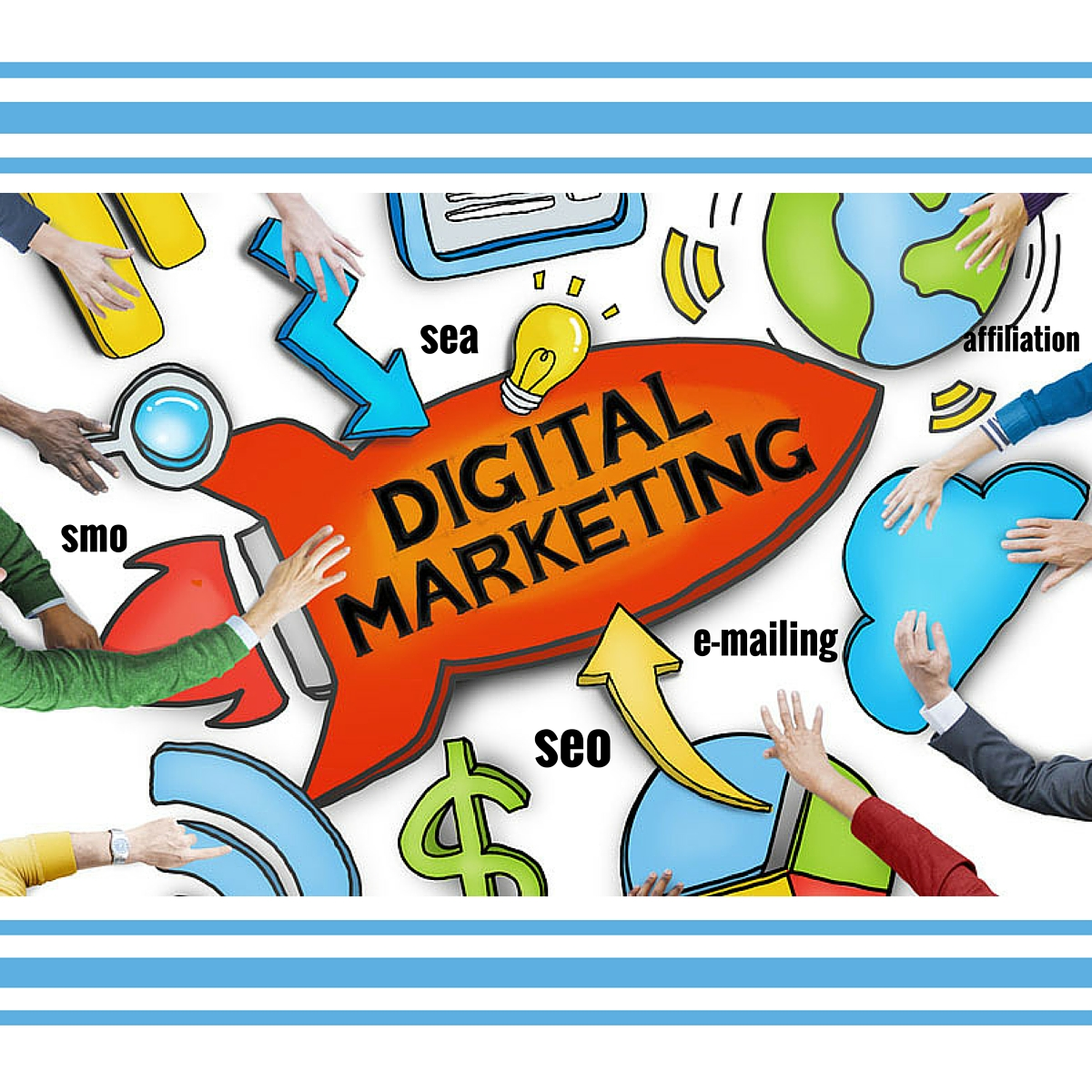 Illusatration Les leviers du marketing digital