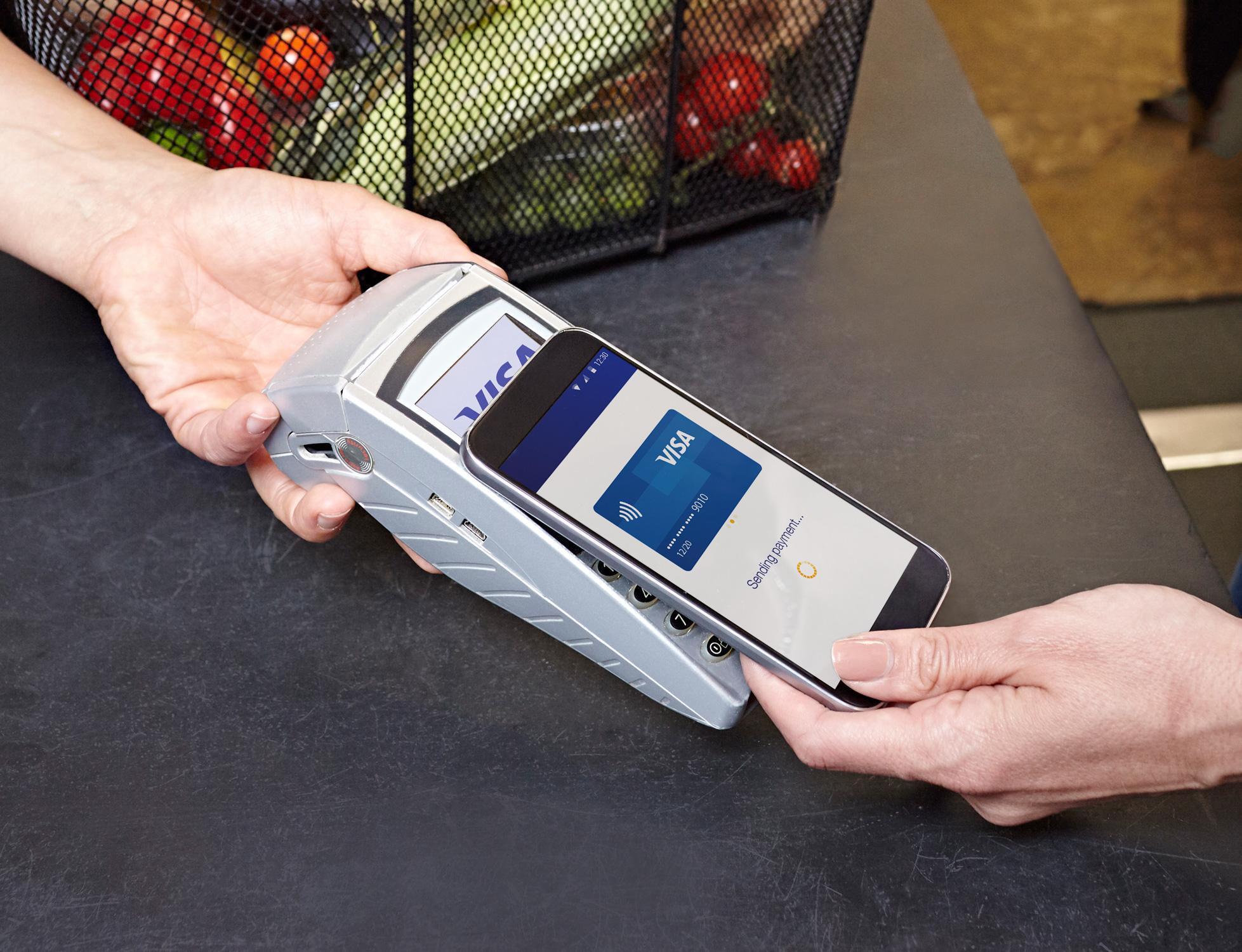 Illusatration Le paiement mobile
