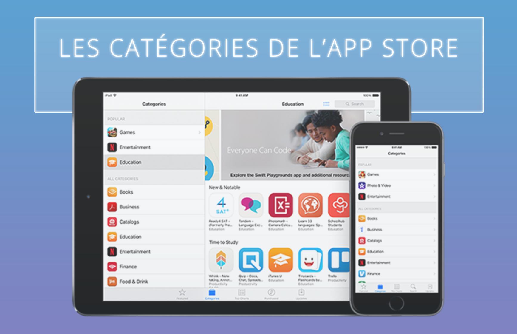 Illusatration Définitions des catégories de l'App Store