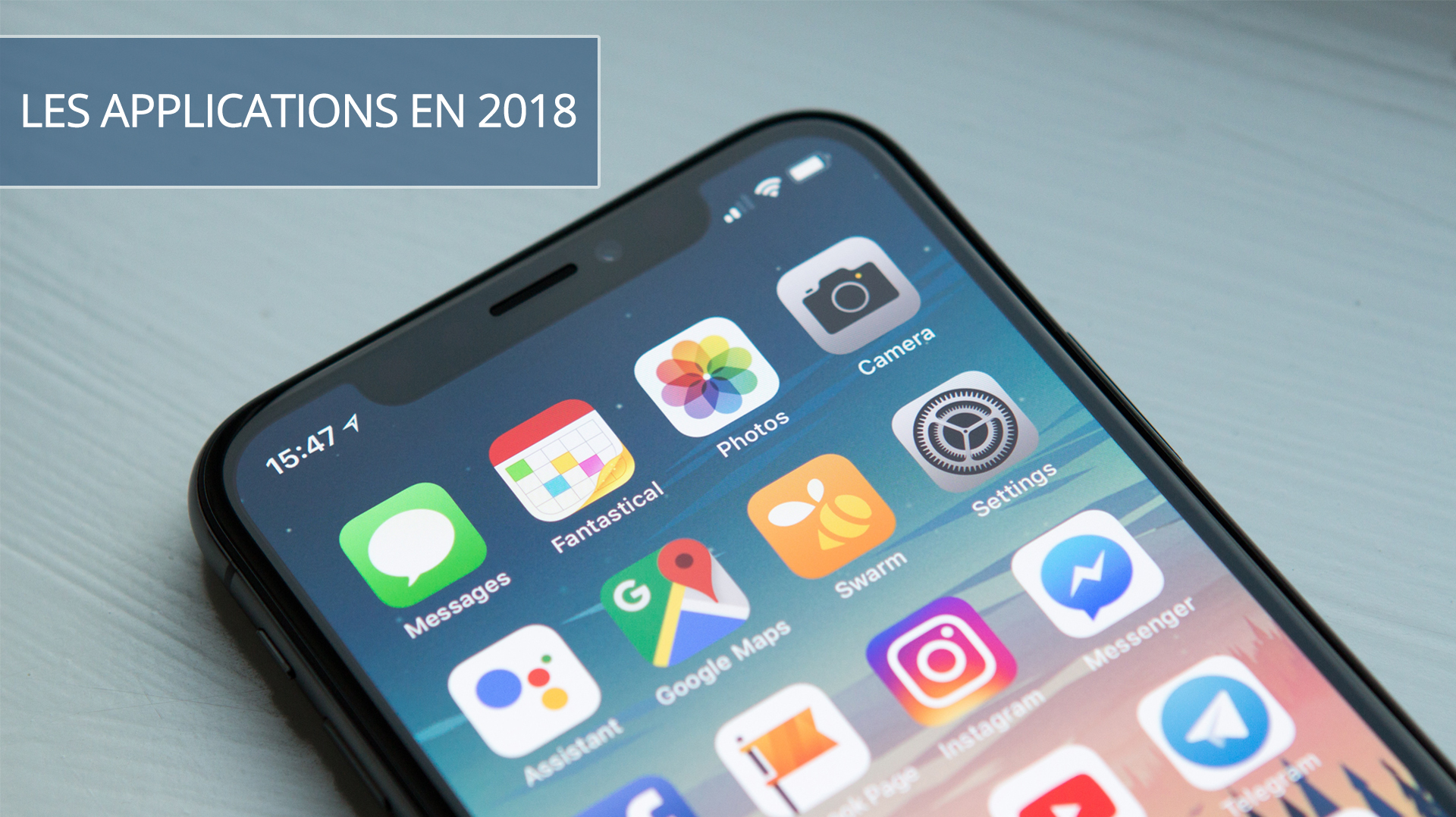 Illusatration Le meilleur des applications mobiles en 2018
